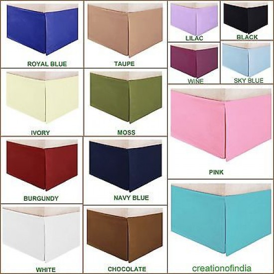 BED SKIRT PURPLE SOLID SELECT DROP LENGTH ALL US SIZE 1000 TC EGYPTIAN COTTON